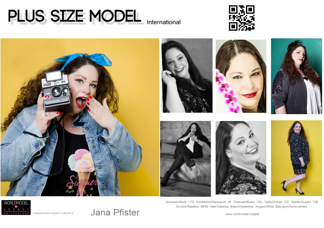 Plus Size Model aud der Schweiz Jana Pfister, WorldModel Agency by Flamir Da Silva
